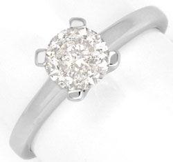 Foto 1, 0,94 Carat Brilliant Weissgold Brillant Diamantring Neu, R1000