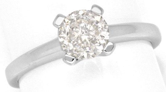 Foto 2, 0,94 Carat Brilliant Weissgold Brillant Diamantring Neu, R1000