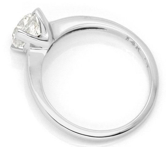 Foto 3, 0,94 Carat Brilliant Weissgold Brillant Diamantring Neu, R1000