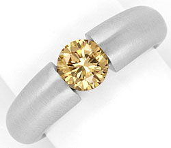 Foto 1, Brillant Spannring 1,03ct Fancy Goldbraun 18K Weissgold, R1001