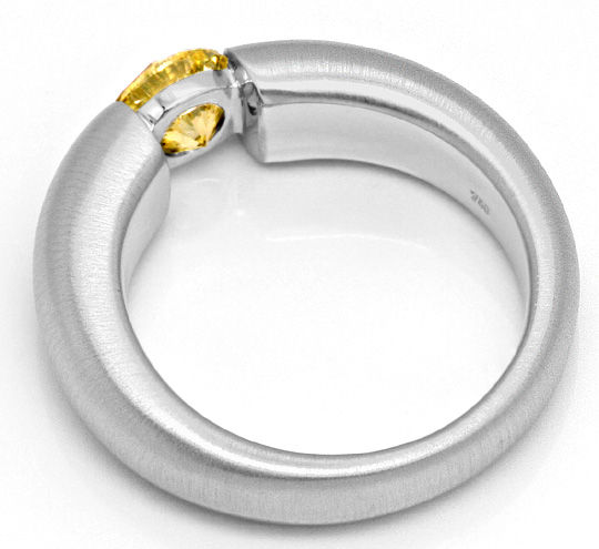 Foto 3, Brillant-Spannring 1,03ct Fancy Goldbraun 18K Weissgold, R1001