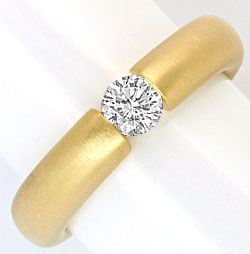 Foto 1, Brillant Diamant Spannring 0,4ct Wesselton 18K Gelbgold, R1004