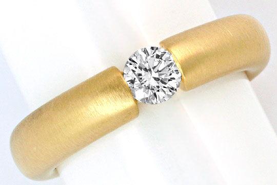 Foto 2, Brillant Diamant Spannring 0,4ct Wesselton 18K Gelbgold, R1004
