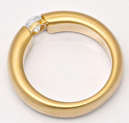 Foto 3, Brillant Diamant Spannring 0,4ct Wesselton 18K Gelbgold, R1004