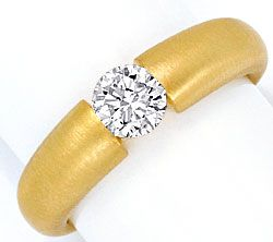Foto 1, Brillant-Spannring Diamantspannring 0,63 River 18K Gold, R1005