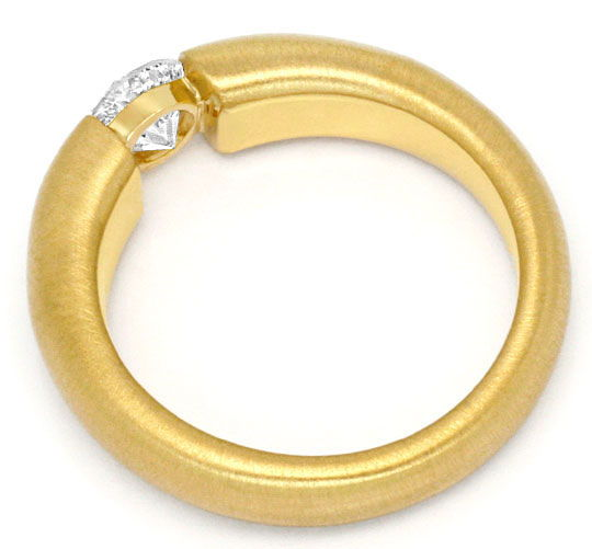 Foto 3, Brillant Spannring Diamantspannring 0,63 River 18K Gold, R1005