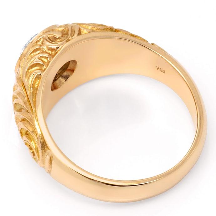 Foto 3, Zweikaraeter Diamant Ring VS1 Extrem massiv 18K Rotgold, R1006