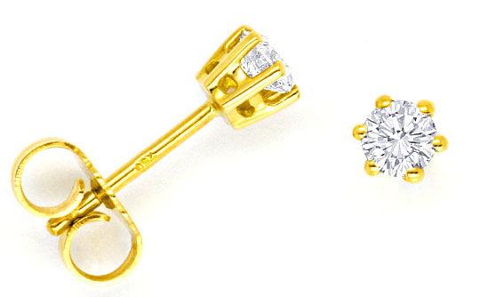 Foto 1, Krappen Brillanten Ohrstecker 0,4ct Diamanten Lupenrein, R1102