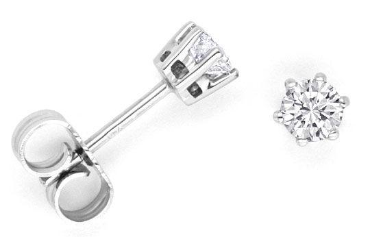 Foto 1, Krappen Brillanten Ohrstecker, 0,42 Diamanten Weissgold, R1103