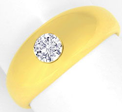 Foto 1, Diamant Bandring 0,40ct Brillant Top Wesselton 18K Gold, R1109