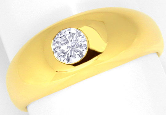 Foto 2, Diamant Bandring 0,40ct Brillant Top Wesselton 18K Gold, R1109