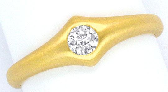 Foto 2, Toller Diamant Designer Ring 0,23 Carat massiv Gelbgold, R1110