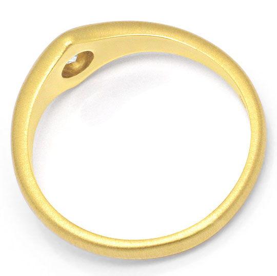 Foto 3, Toller Diamant Designer Ring 0,23 Carat massiv Gelbgold, R1110