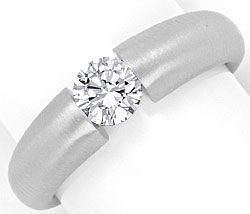 Foto 1, Weissgold Diamant Spannring 0,55ct Halbkaräter Brillant, R1112