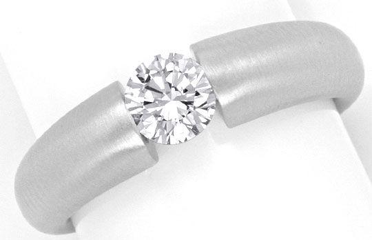 Foto 2, Weissgold Diamant Spannring 0,55ct Halbkaräter Brillant, R1112