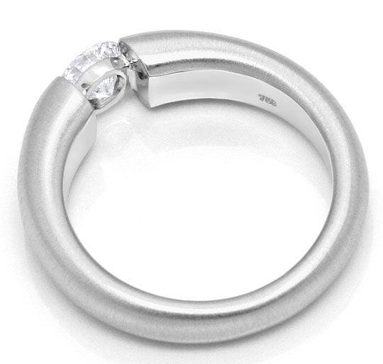 Foto 3, Weissgold Diamant Spannring 0,55ct Halbkaräter Brillant, R1112