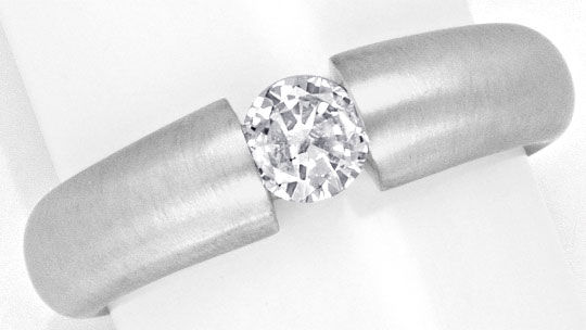 Foto 2 - Diamant Spann Ring 0,36ct Brillant River, 18K Weissgold, R1152