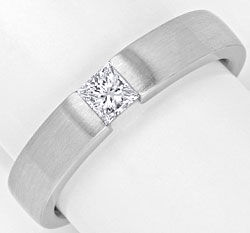 Foto 1, Princess Diamant Weissgoldring 0,29 Princessdiamant 18K, R1173