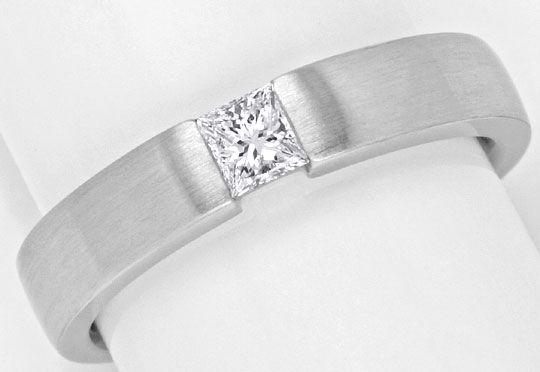 Foto 2, Princess Diamant Weissgoldring 0,29 Princessdiamant 18K, R1173