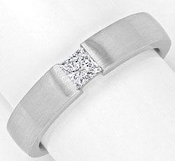 Foto 1, Princessdiamant Ring 18K 0,29 Princessdiamant Lupenrein, R1175