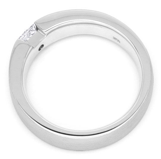 Foto 3, Princessdiamant Ring 18K 0,29 Princessdiamant Lupenrein, R1175