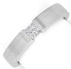 Foto 1, Princess Diamant Weissgoldring 0,23 Princessdiamant 18K, R1176