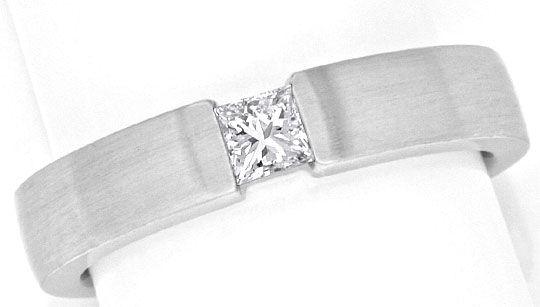Foto 2, Princess Diamant Weissgoldring 0,23 Princessdiamant 18K, R1176