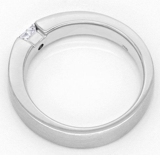 Foto 3, Princess Diamant Weissgoldring 0,23 Princessdiamant 18K, R1176