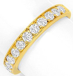 Foto 1, Cartier Halbmemory Diamantring 18K Ring Jonc All Oj/Dts, R1198