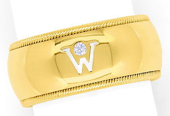 Foto 1, Wellendorf Diamantring in 18K Gelbgold 0,02ct Brilliant, R1269