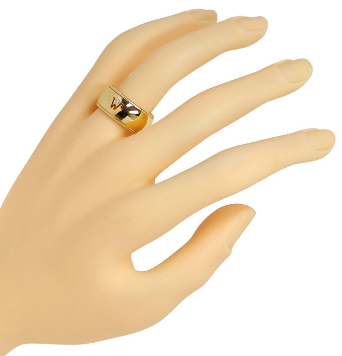 Foto 4 - Wellendorf Diamantring in 18K Gelbgold 0,02ct Brilliant, R1269