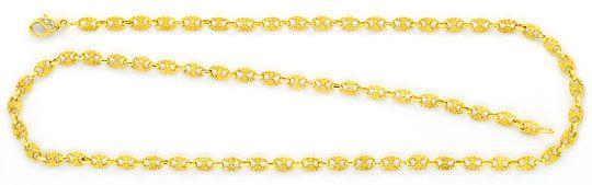 Foto 1, Schiffsanker Bohnen Marina Halskette Diamantenkarabiner, R1324