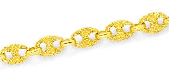 Foto 2, Schiffsanker Bohnen Marina Halskette Diamantenkarabiner, R1324