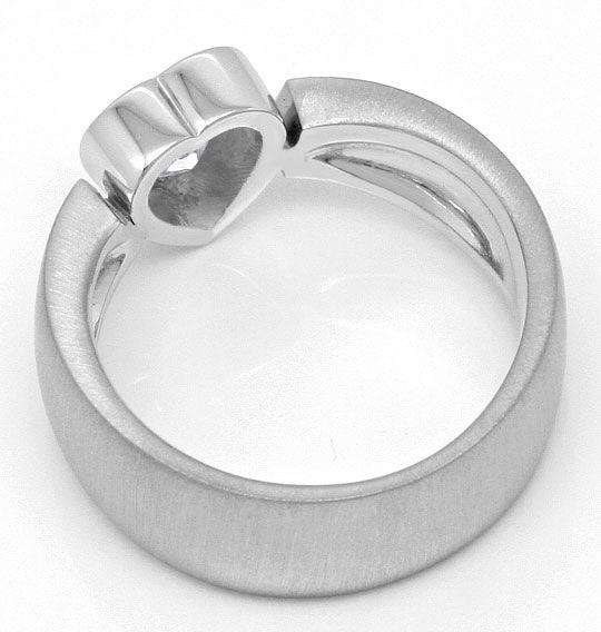 Foto 3, Herzdiamant Ring 0,94 Solitaer Handarbeit 18K Weissgold, R1374