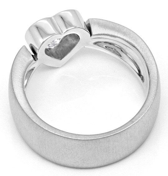 Foto 3, Herz Diamantring 0,98 Herzschliff, 18K Weissgold massiv, R1375