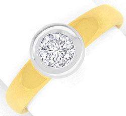 Foto 1, Brillant Diamant Ring 0,57 Wesselton Gelbgold Weissgold, R1377