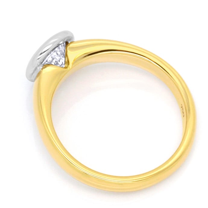 Foto 3, Diamant Solitär Ring 1,03ct Brillant Gelbgold Weissgold, R1378