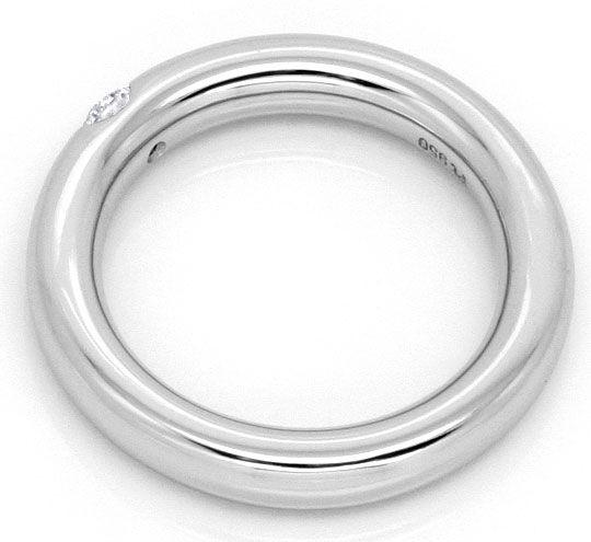 Foto 3, Brillant Platin Ring Viertelkaraeter 0,25 Top Wesselton, R1380
