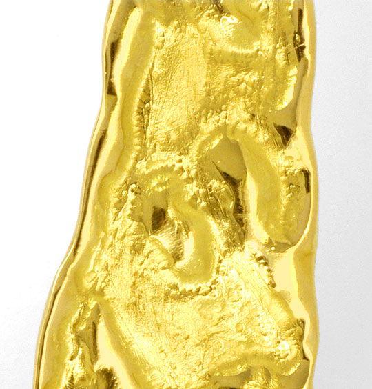 Foto 3, Designer Brillant Kollier massiv Rohgold Design Collier, R1427