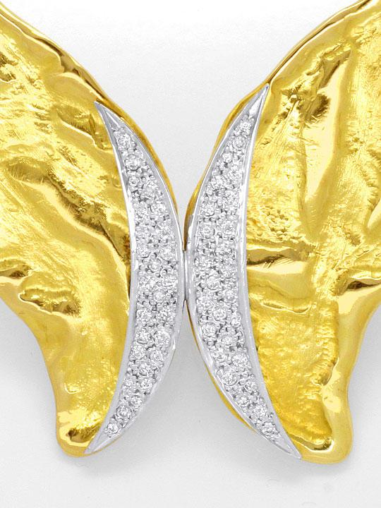 Foto 4, Designer Brillant Kollier massiv Rohgold Design Collier, R1427