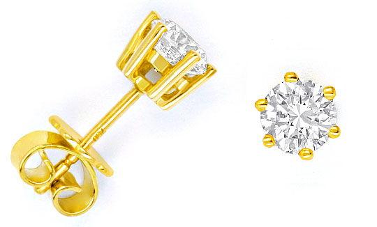 Foto 1, 1,02 Carat Brillant Ohrstecker 1 Paar Diamantenohrringe, R1494