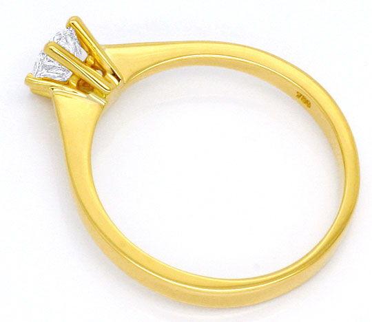 Foto 3, Halbkaräter Brilliant Ring Gelbgold Krappen Diamantring, R1495