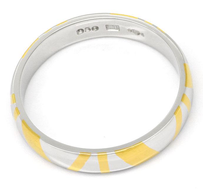 Foto 3, Original Niessing Ring in Platin Gelbgold Design Muster, R1503