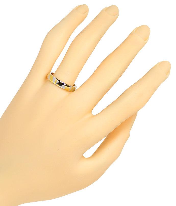 Foto 4, Original Niessing Ring in Platin Gelbgold Design Muster, R1503