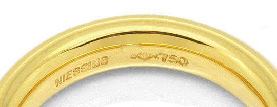 Foto 3, Original Niessing Spannring Oval 0,22 Brillant Gelbgold, R1668