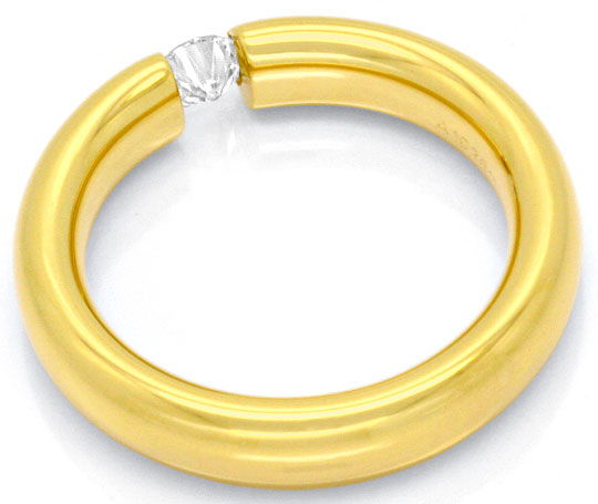 Foto 4, Original Niessing Spannring Oval 0,22 Brillant Gelbgold, R1668