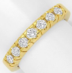 Foto 1, Halbmemory Diamanten Ring Brillianten massives Gelbgold, R1768