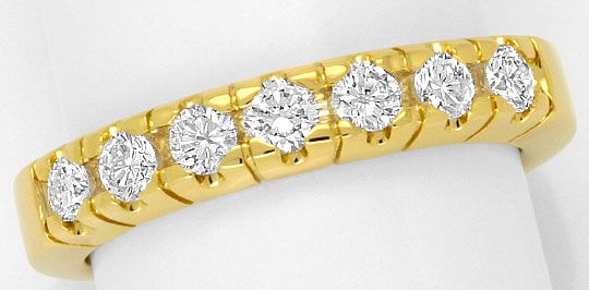 Foto 2 - Halbmemory Diamanten Ring Brillianten massives Gelbgold, R1768