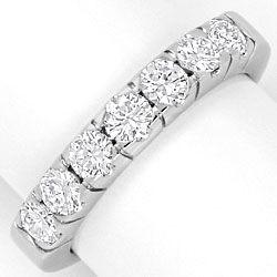 Foto 1, Diamanten Ring Brillant Halbmemoryring massiv Weissgold, R1769