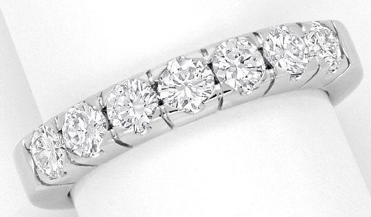 Foto 2, Diamanten Ring Brillant Halbmemoryring massiv Weissgold, R1769